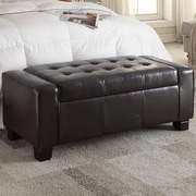 Mulhouse Furniture Storage Bedroom Bench; Black