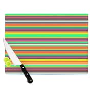 KESS InHouse Pattern Play Stripes Cutting Board; 8.25'' H x 11.5'' W