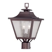 Acclaim Lighting Lafayette 2 Light Outdoor Post Light; Architectural Bronze