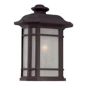 Acclaim Lighting Somerset 1 Light Outdoor Flush Mount; Architectural Bronze