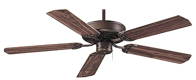 Royal Pacific 52'' Royal Knight 5 Blade Fan; Oil Rubbed Bronze with Walnut Blades WYF078278584795