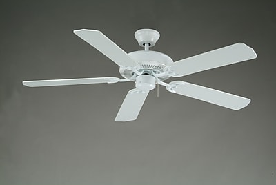 Royal Pacific 52'' Royal Knight 5 Blade Fan; White with White Blades WYF078278584796