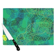 KESS InHouse Mandala Mint by Patternmuse Cutting Board; 11.5'' H x 8.25'' W x 0.5'' D