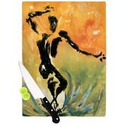 KESS InHouse Hangin' 5 by Josh Serafin Cutting Board; 11.5'' H x 8.25'' W x 0.5'' D