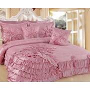 DaDa Bedding Pink Blooming 5 Piece King Quilt Set