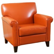 Home Loft Concepts Bonded Leather Chair; Burnt Orange