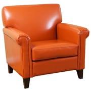 Home Loft Concepts Bonded Leather Chair; Burnt Orange