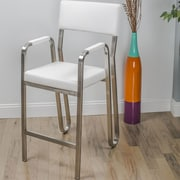 Matrix Koppa 26'' Bar Stool with Cushion; White