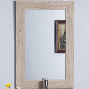 Bellaterra Home Travertine Stone Frame Mirror