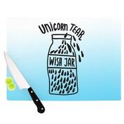 KESS InHouse Unicorn Wish Jar Cutting Board; 11.5'' W x 8.25'' D