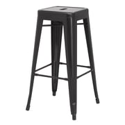 New Pacific Direct Metropolis Metal Backless Bar Stool (Set of 4); Black