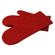 LCM Home Fashions, Inc. Kitchen Cooking Oven Mitt; Red