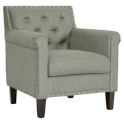 Wholesale Interiors Teresa Tufted Arm Chair in Grey