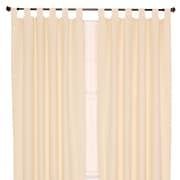 Ellis Curtain Crosby Insulated Tab Top Foamback Curtains Single Panel; Natural