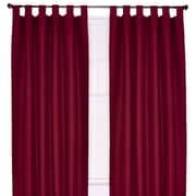 Ellis Curtain Crosby Insulated Tab Top Foamback Curtains Single Panel; Bordeaux