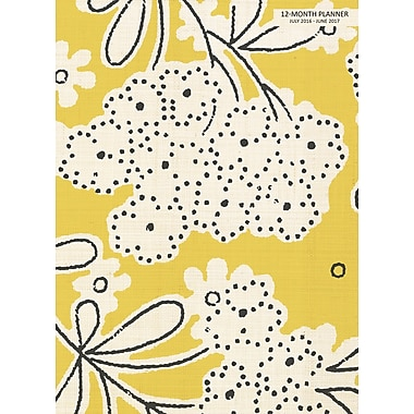 TF Publishing 2017 Academic Year Linen Floral Simplicity Planner