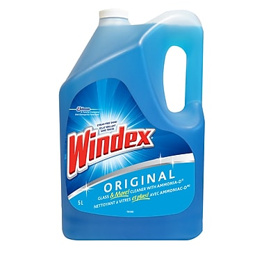 Windex Glass Cleaner, Blue Refill, 5 Litre