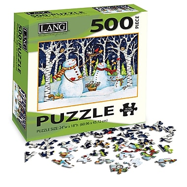 LANG Birch & Snowman Jigsaw Puzzle, 500 Pieces, (5039105)