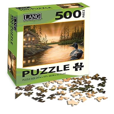 LANG Cabin On The Narrows Jigsaw Puzzle, 500 Pieces, (5039106)