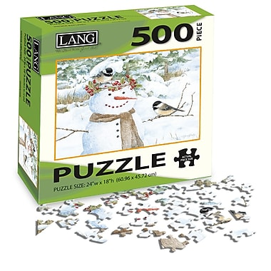 LANG Chickadee Snowman Jigsaw Puzzle, 500 Pieces, (5039108)