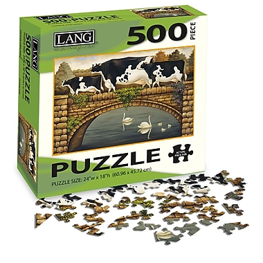 LANG Over The Bridge Jigsaw Puzzle, 500 Pieces, (5039119)