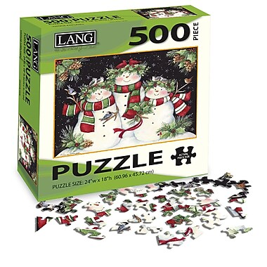 LANG Snowmen Family Jigsaw Puzzle, 500 Pieces, (5039123)