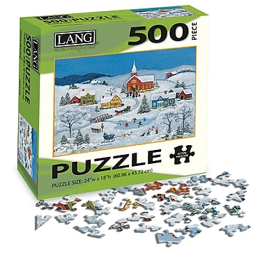 LANG Snowy Evening Jigsaw Puzzle, 500 Pieces, (5039124)