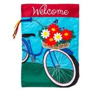 Evergreen Enterprises, Inc Applique Summertime Bicycle Garden Flag