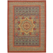 Unique Loom Palace Navy Red Area Rug; 13' x 18'