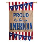 Evergreen Enterprises, Inc Burlap Pennant American 2-Sided Garden Flag
