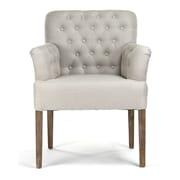 Zentique Barrois Tufted Arm Chair; Natural