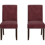 Handy Living Madelyn Parsons Chair (Set of 2); Red
