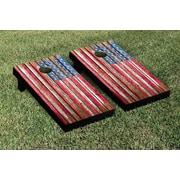 Victory Tailgate NCAA United States US Flag Distressed Wood Cornhole Game Set