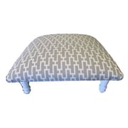 Corona Decor Zig Zag Geometric Footstool