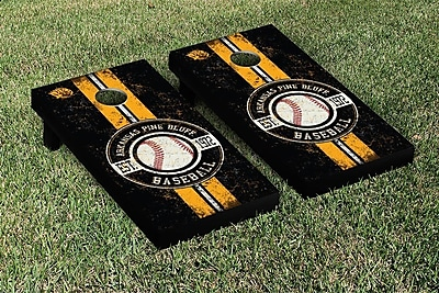 Victory Tailgate NCAA Baseball Version Cornhole Game Set; Arkansas Pine Bluff UAPB Golden Lions WYF078278335838
