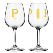Boelter Brands MLB 12 Oz. Wine Glass (Set of 2); Pittsburgh Pirates