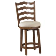 Powell 24'' Swivel Ladderback Counter Stool