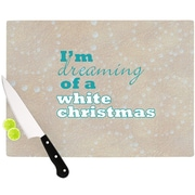 KESS InHouse White Christmas Cutting Board; 11.5'' W x 8.25'' D
