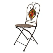 Continental Art Center Folding Bistro Wines Armless Chair