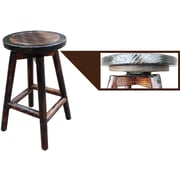 LeighCountry Char-Log 27'' Round Swivel Bar Stool