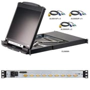 "Aten® CL5808NCKIT 8 Port KVM Switch with 19"" Dual Rail LCD Console"