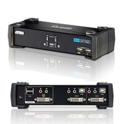 Aten® CubiQ™ CS1762A USB 2.0 DVI Desktop KVMP Switch