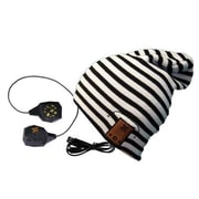 BE Headwear TN0016 24/7 Tall Fit Smart Headwear with Built-In Bluetooth Speaker, Black/White Stripe