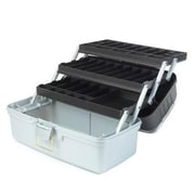 Creative Options® Three-Tray Box, Platinum/Black Sparkle(613477)