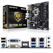 GIGABYTE™ Ultra Durable 64GB Micro ATX Desktop Motherboard, Intel Q170 Express (GAQ170MMK)