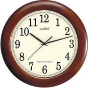 "La Crosse Technology® 12 1/2""Dia x 1 1/2""D Brown Analog Atomic Wall Clock (WT3122A)"