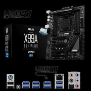 msi® 128GB ATX Desktop Motherboard, Intel X99 Express (X99A SLI Plus)