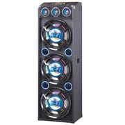 QFX® SBX412300BT 4000 W Built-In Amplifier Bluetooth Speaker System, Black/Blue