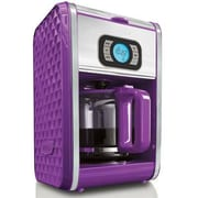 BELLA® 13926 Diamonds 12 Cup Programmable Coffee Maker, Purple