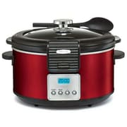 BELLA® Linea Collection 5 qt Programmable Slow Cooker, Red (14106)